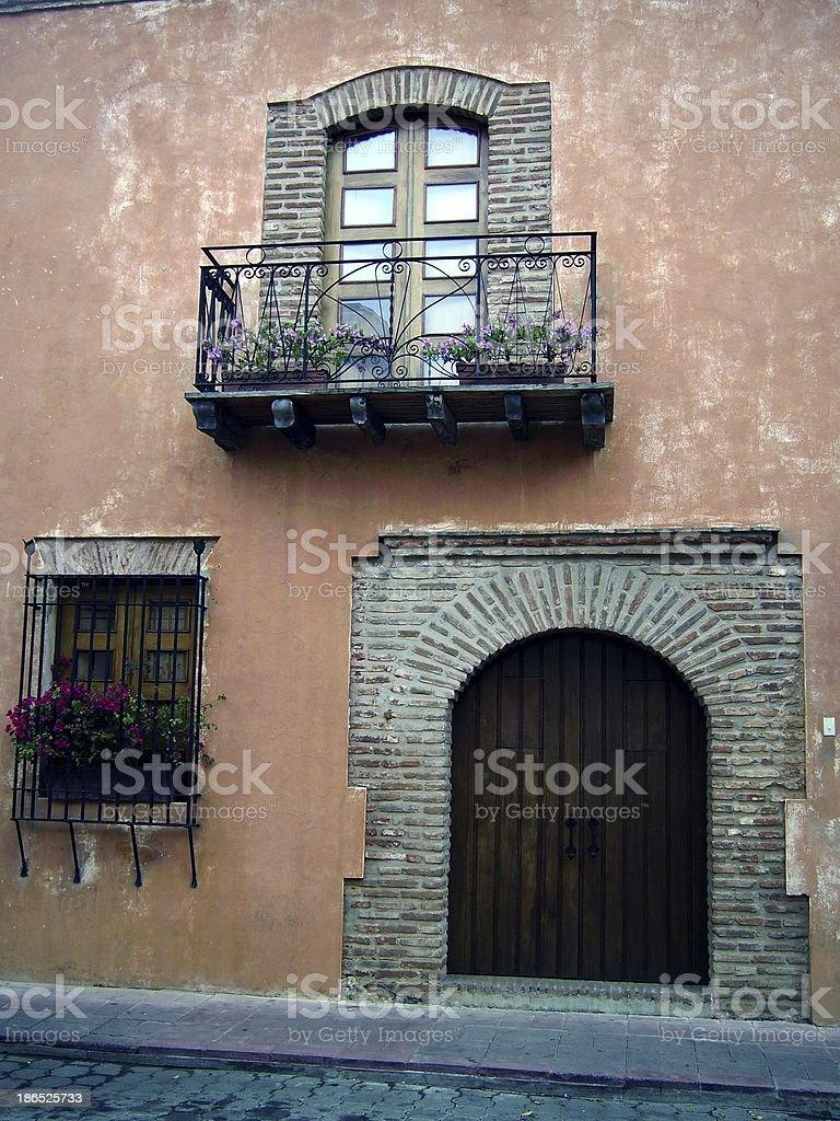 house facade, colonial district - Santo Domingo, Dominican Republic royalty-free stock photo