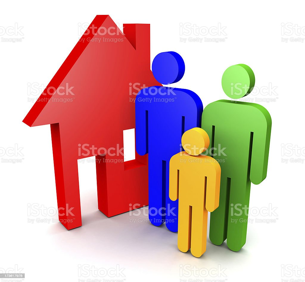 House - Family royalty-free stock photo