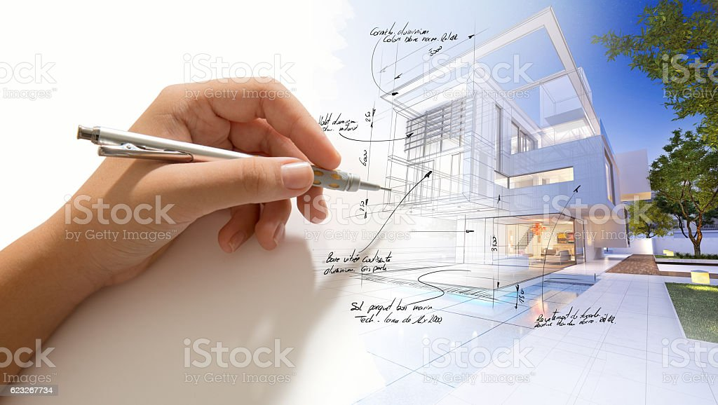 House finishing touch royalty-free stock photo