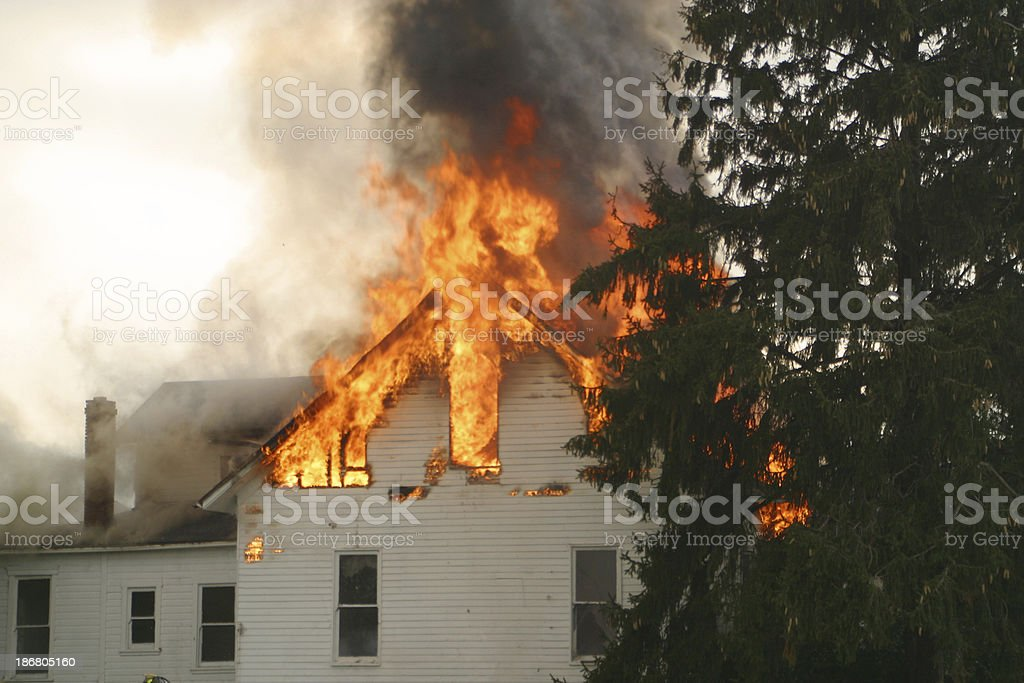 House Fire 1- Beavercreek, Dayton, Ohio. royalty-free stock photo