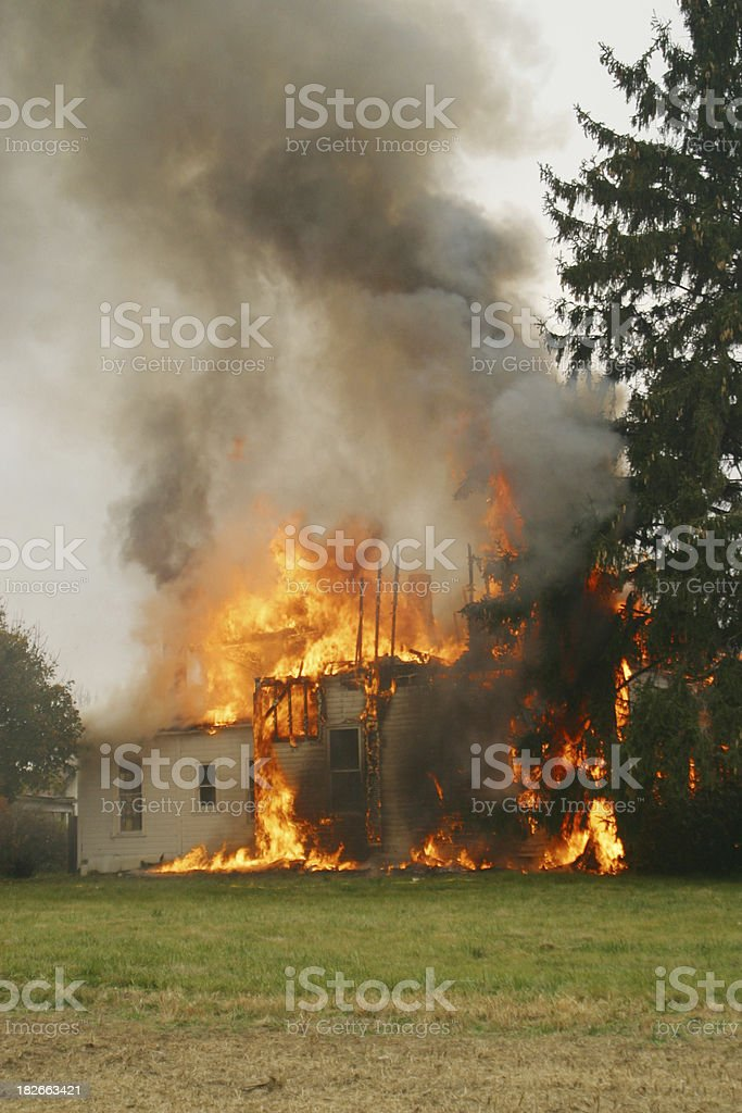 House Fire 12- Beavercreek, Dayton, Ohio. royalty-free stock photo