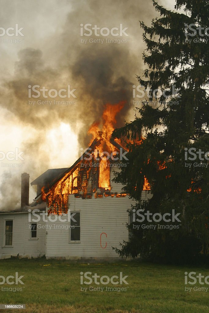House Fire 4- Beavercreek, Dayton, Ohio. royalty-free stock photo
