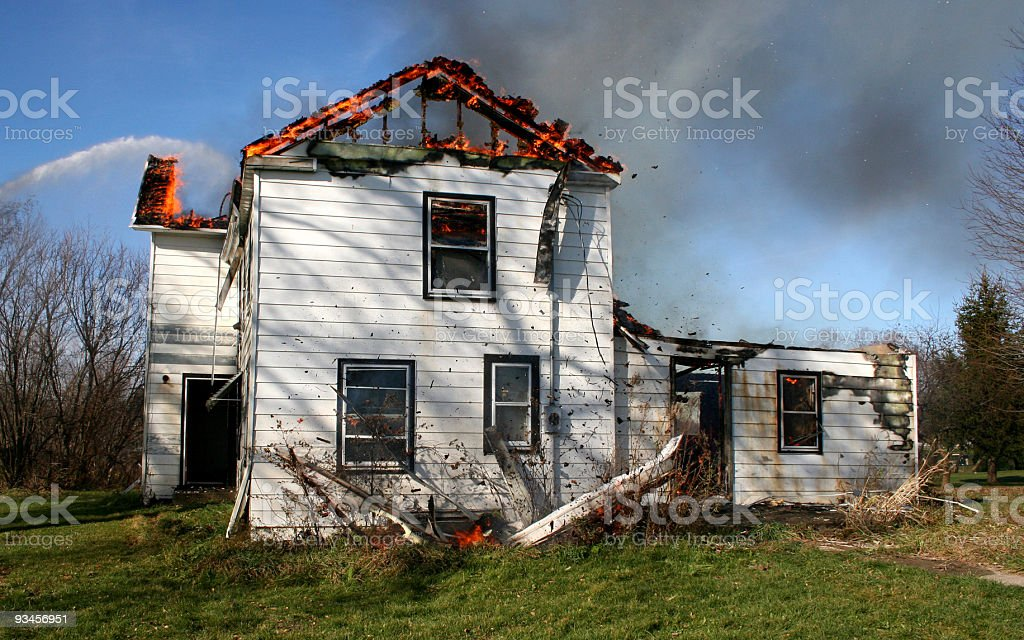 House Fire royalty-free stock photo