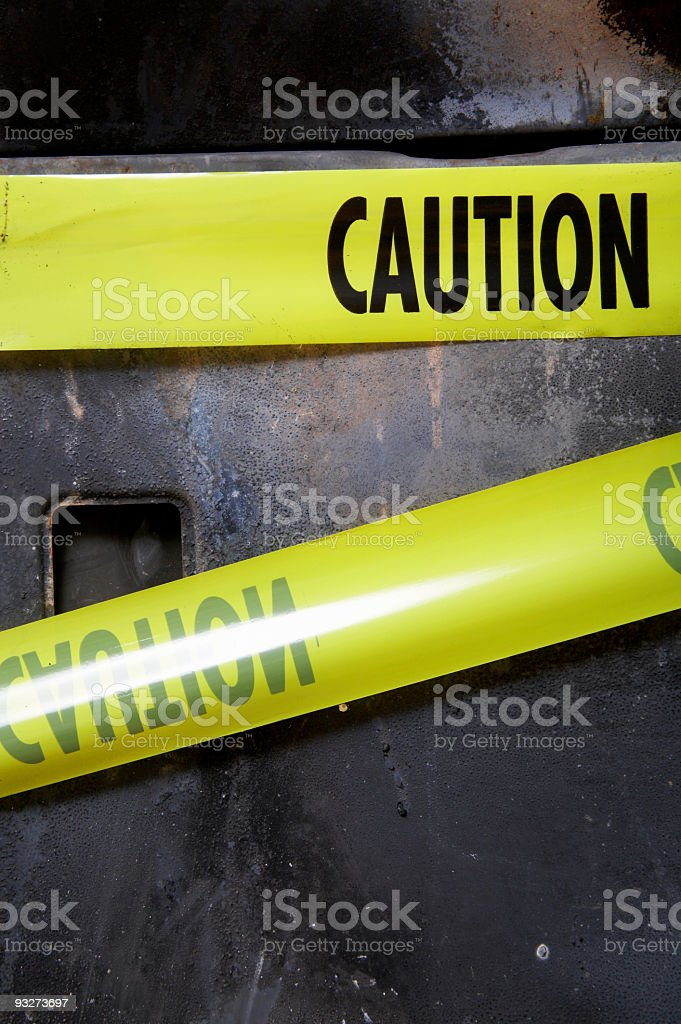 House Fire Series - Caution royalty-free stock photo