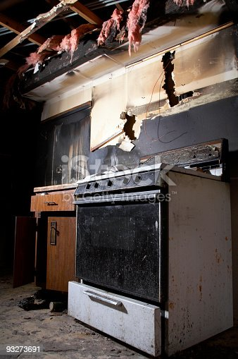 istock House Fire Series - Kitchen 93273691