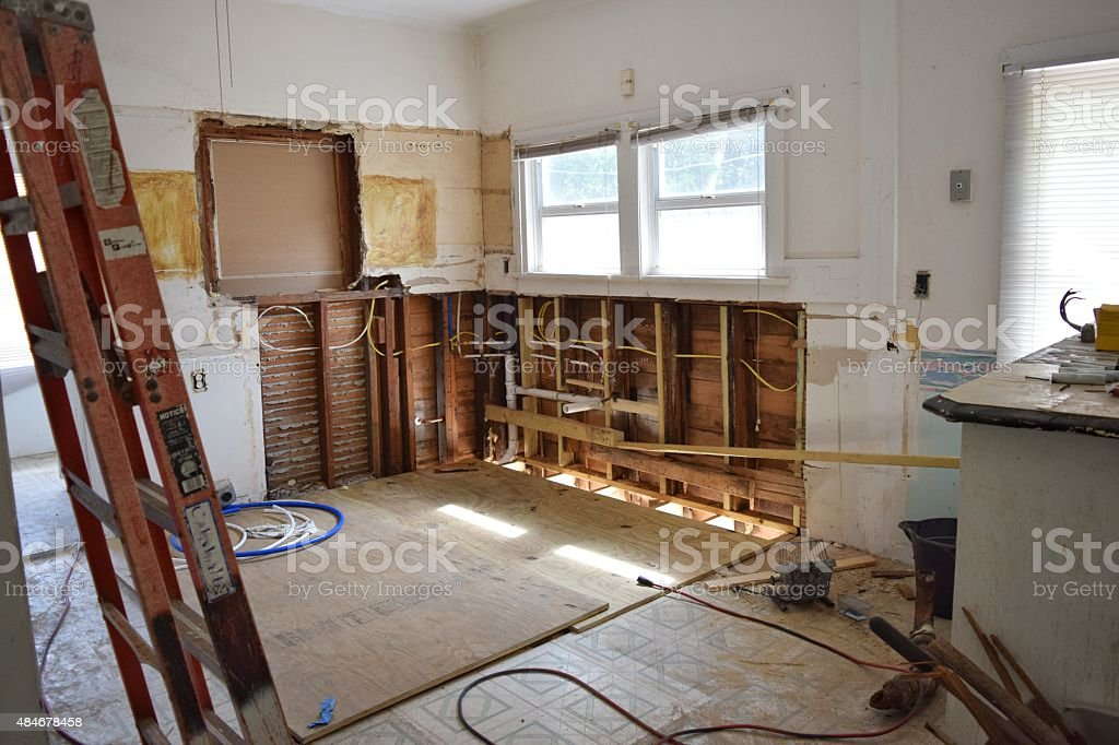 House flipping A behind the scenes look, mid-reno 2015 Stock Photo