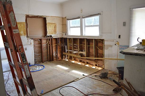 House flipping A behind the scenes look, mid-reno demolishing stock pictures, royalty-free photos & images
