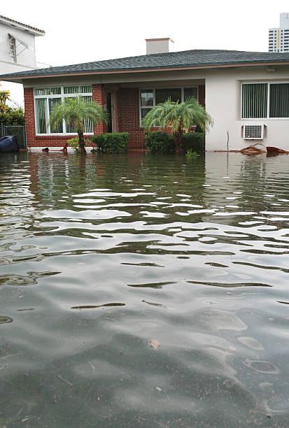 House Flood stock photo