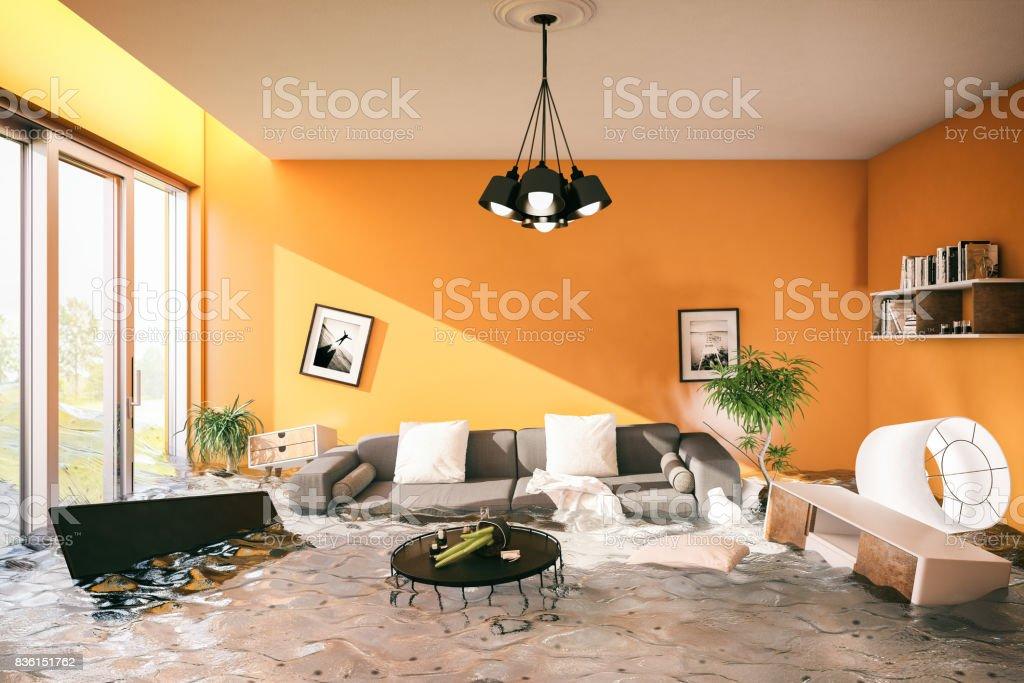 House Flooded stock photo