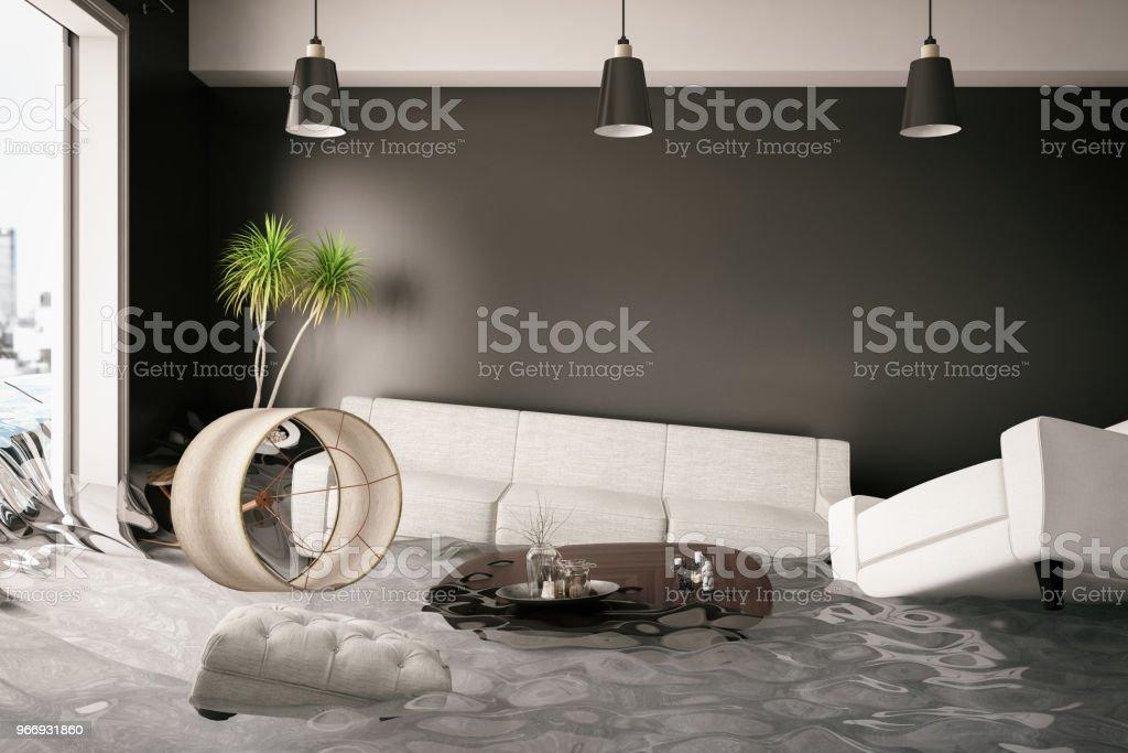 Haus überschwemmt - Lizenzfrei Architektur Stock-Foto