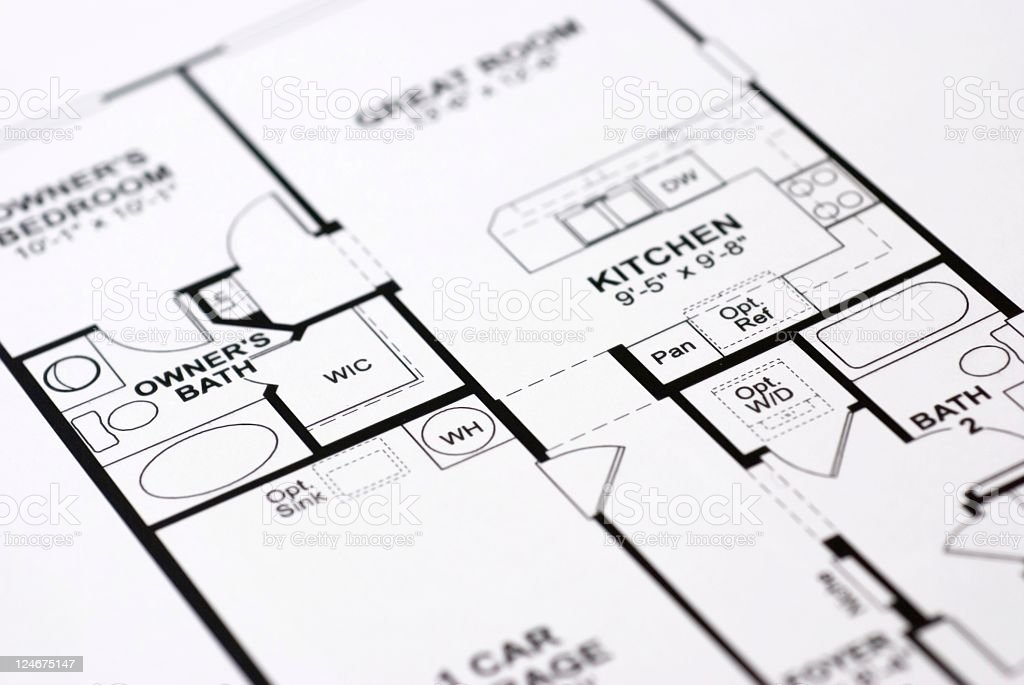 House Floor plan royalty-free stock photo