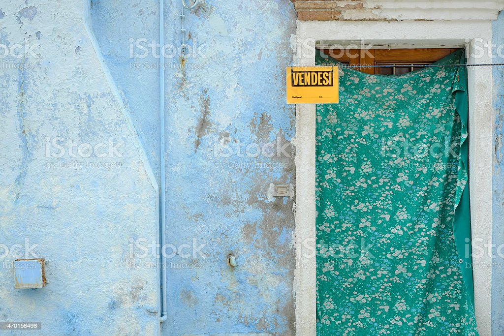 House for sale - Colorful doorway stock photo