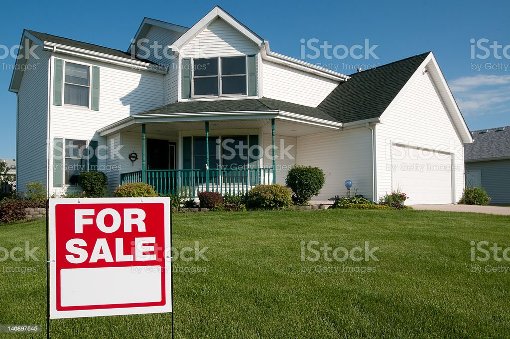 House for sale. stock photo