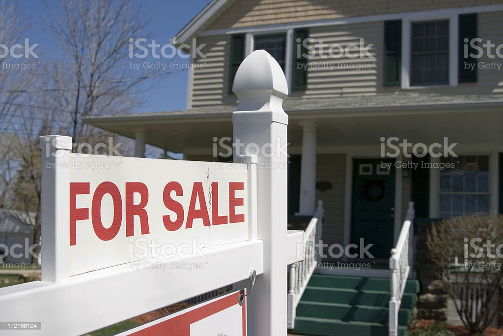 House for Sale - See my other angles royalty-free stock photo