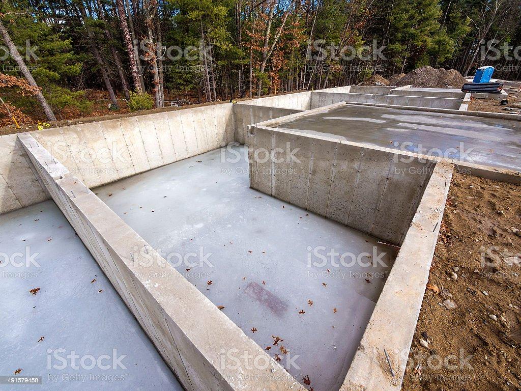 House foundation stock photo