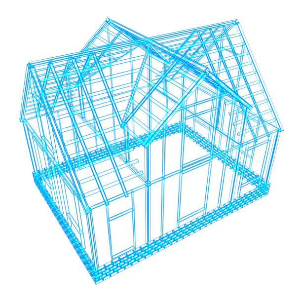 house frame design stock photo