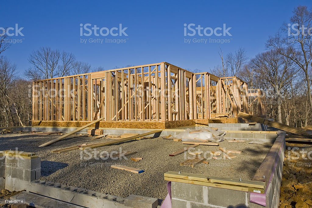 House Framing in the Early Light royalty-free stock photo