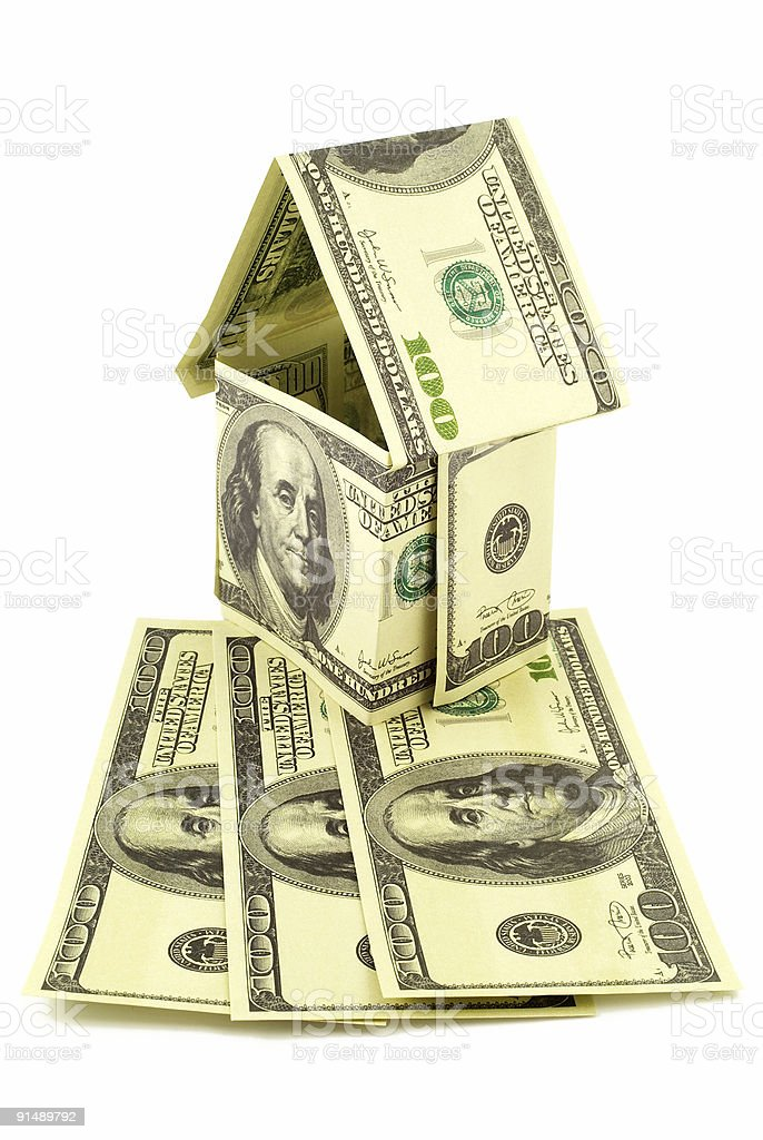 House from bank-notes royalty-free stock photo