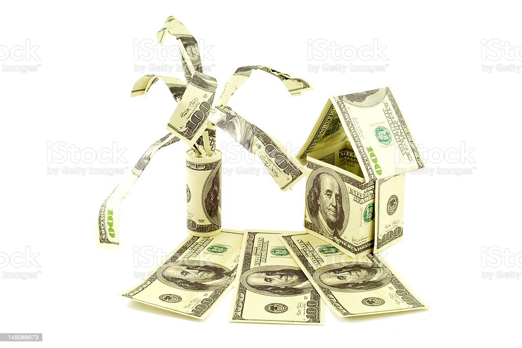 House from dollars royalty-free stock photo
