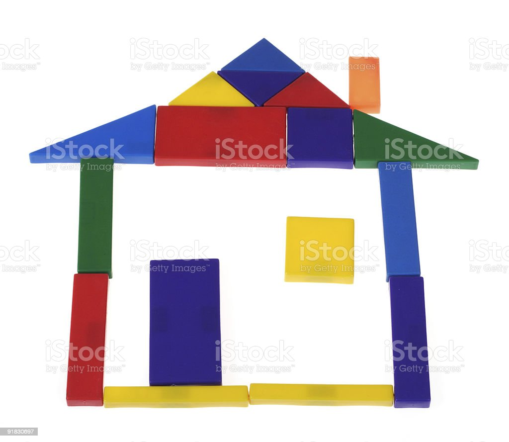 House from plastic blocks royalty-free stock photo