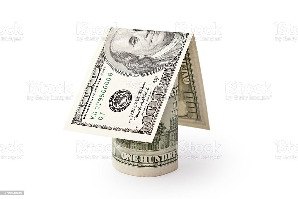house from the money royalty-free stock photo