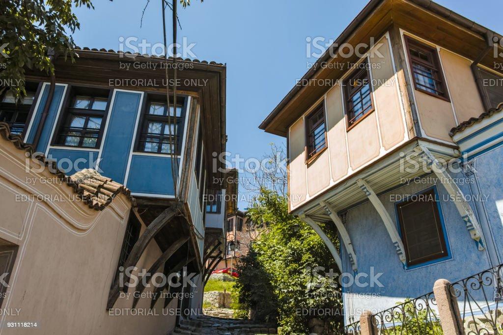 Eski şehir Plovdiv, Bulgaristan Bulgar canlanma süre evden - Royalty-free Antik Stok görsel