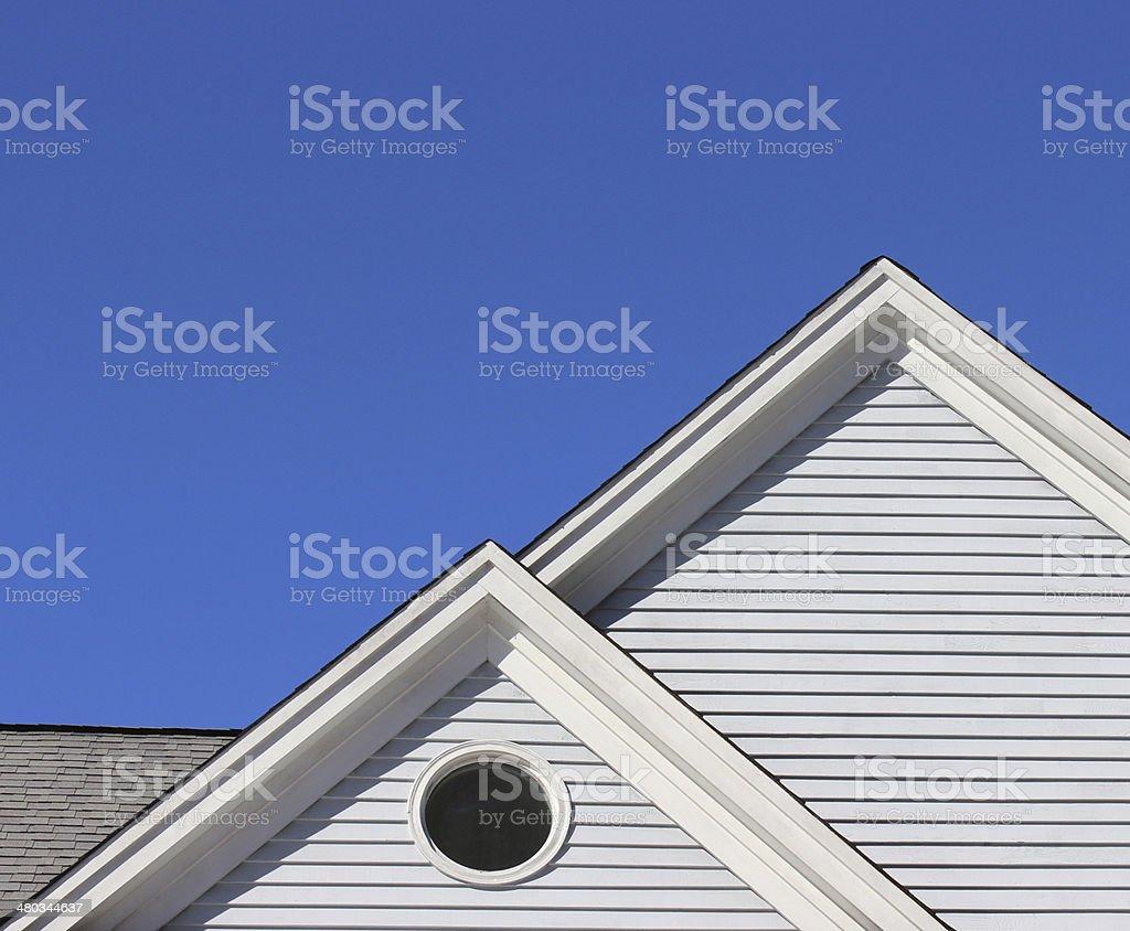 House Gable Detail stock photo