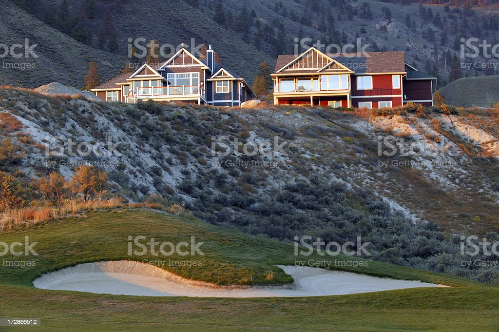 house golf course kamloops stock photo