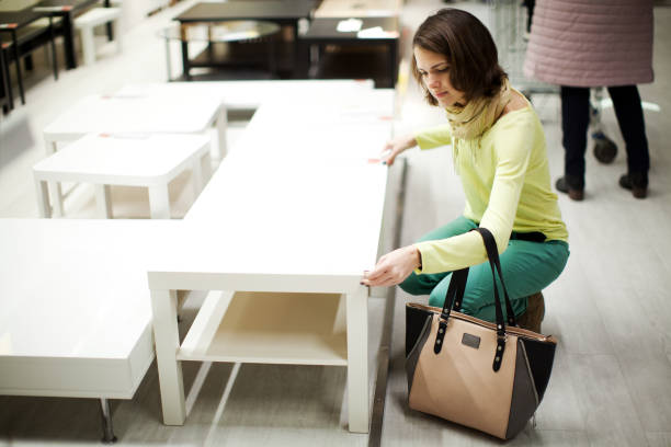 house goods shopping - furniture shopping stock photos and pictures