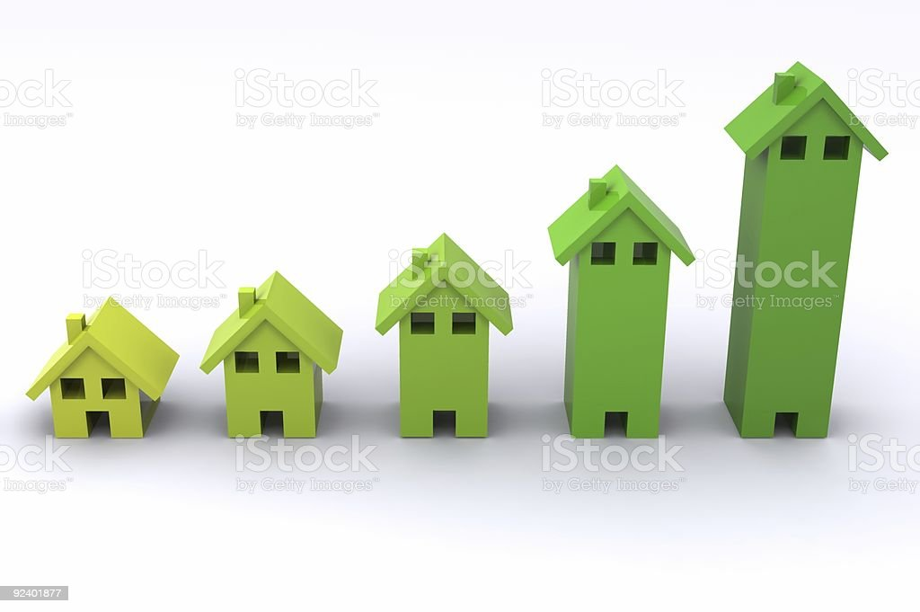 House Graph royalty-free stock photo