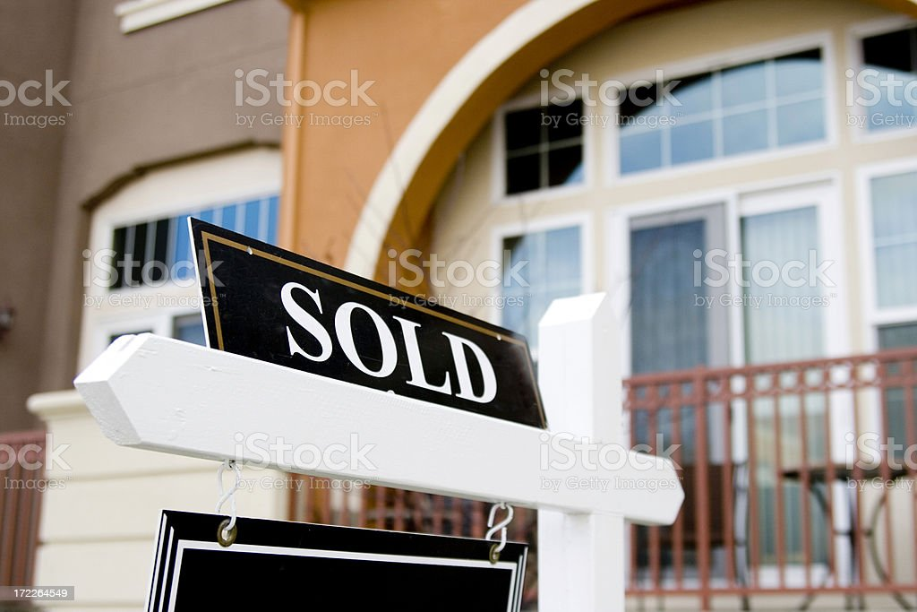 House has been Sold royalty-free stock photo