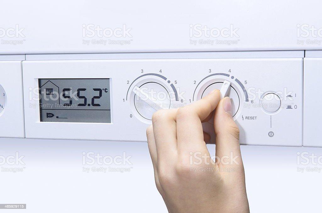 house heating boiler stock photo