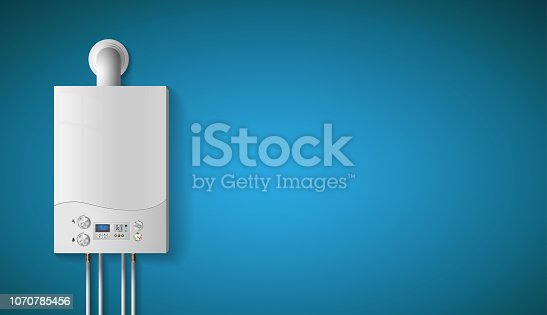 istock House heating concept - modern home gas fired boiler - energy and cash savings 1070785456
