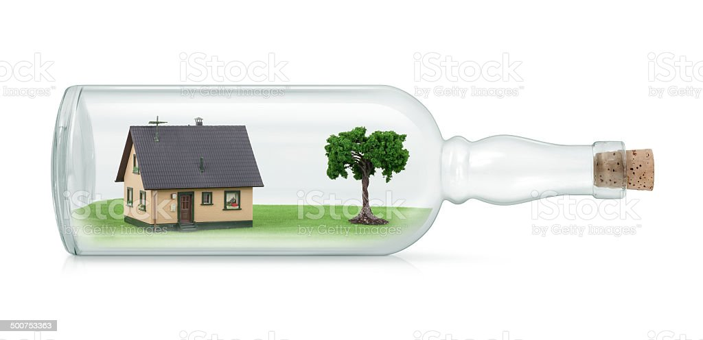 House in a Bottle royalty-free stock photo