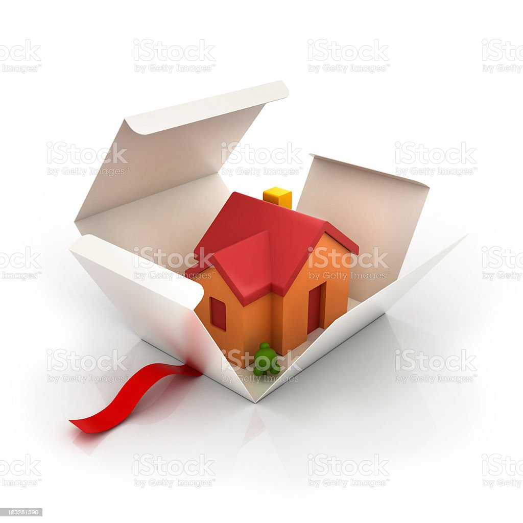 house in a box royalty-free stock photo