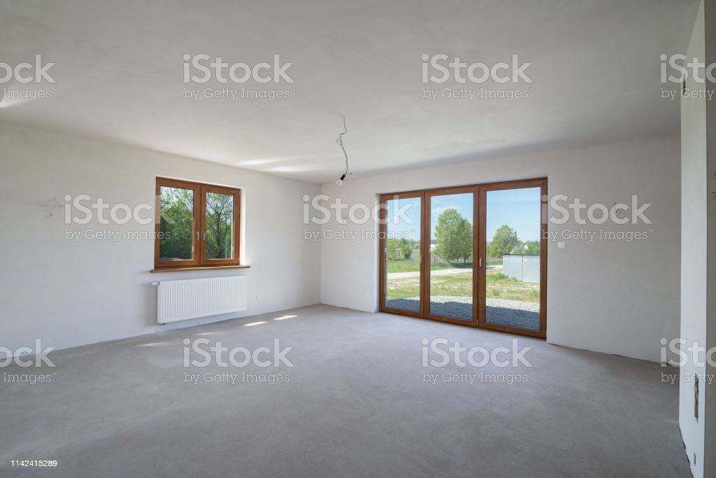 House In A Finishing Stage Unfinished Building Interior New ...