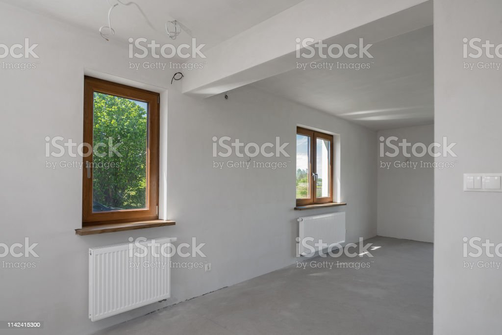 House In A Finishing Stage Unfinished Building Interior New House In  Progress Stock Photo - Download Image Now