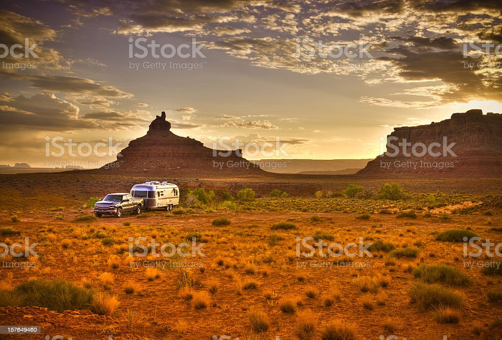 RV house in a wilderness area royalty-free stock photo