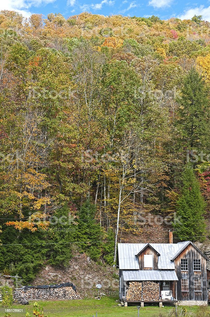 House in Appalachian Mountains of West Virginia royalty-free stock photo