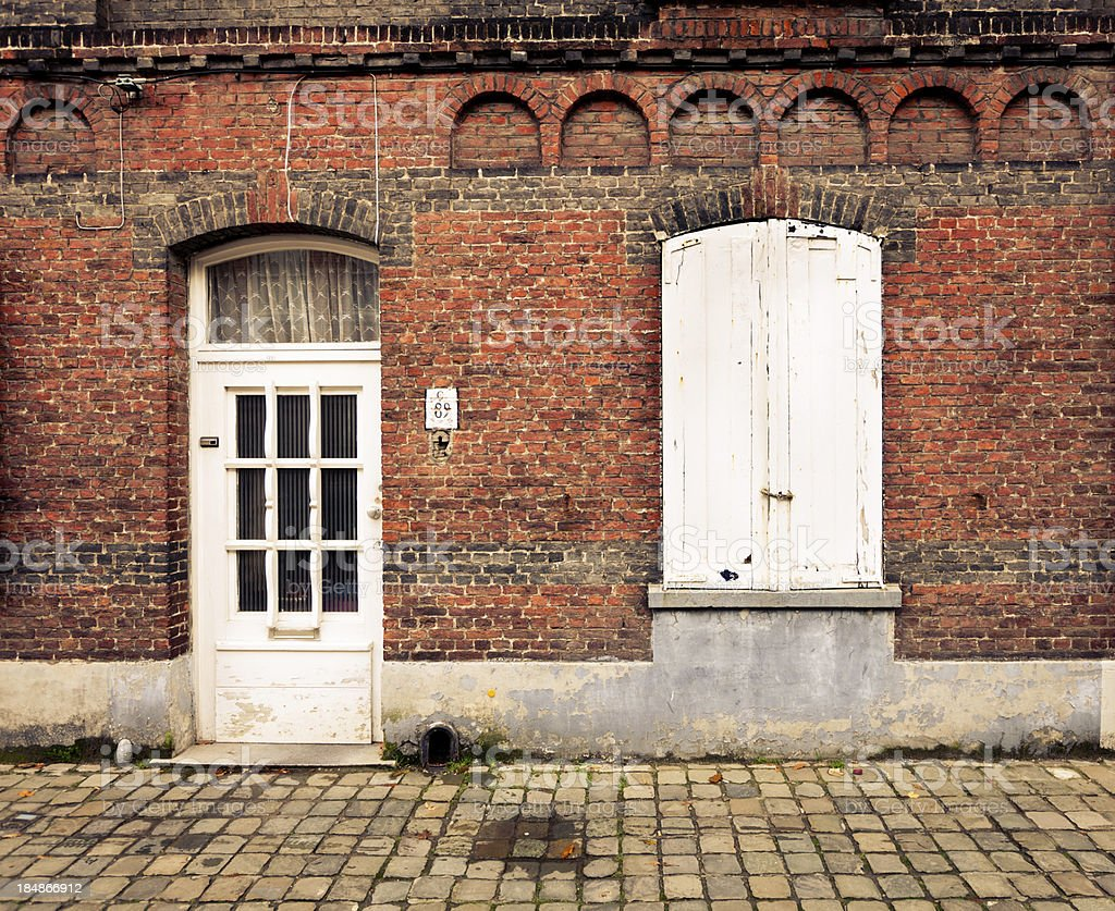 House in Bruges royalty-free stock photo