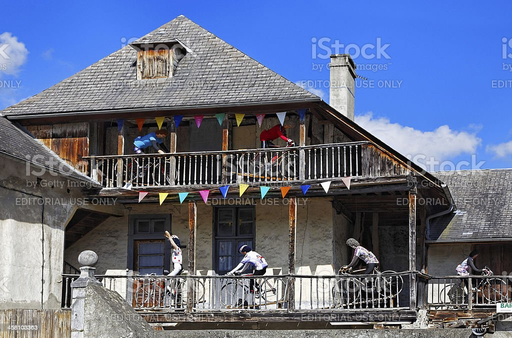 House in Campan royalty-free stock photo