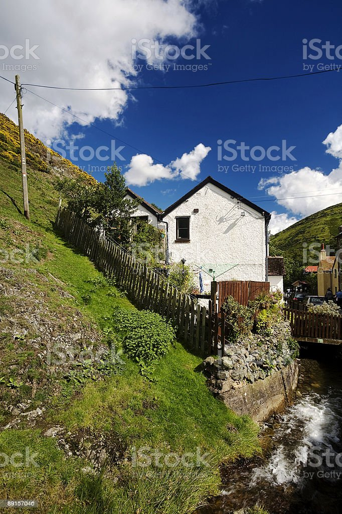 House in Cardingmill Valley stock photo