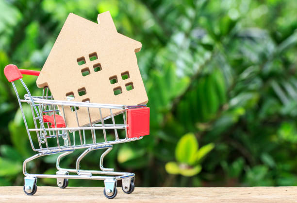 House in cart stock photo