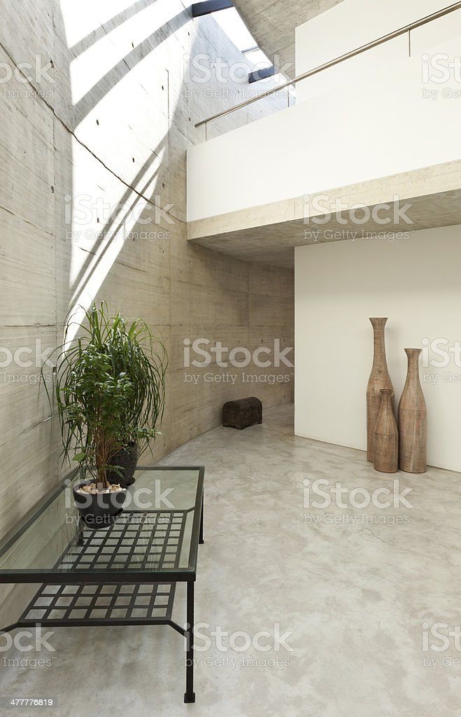 house in cement, detail living room royalty-free stock photo