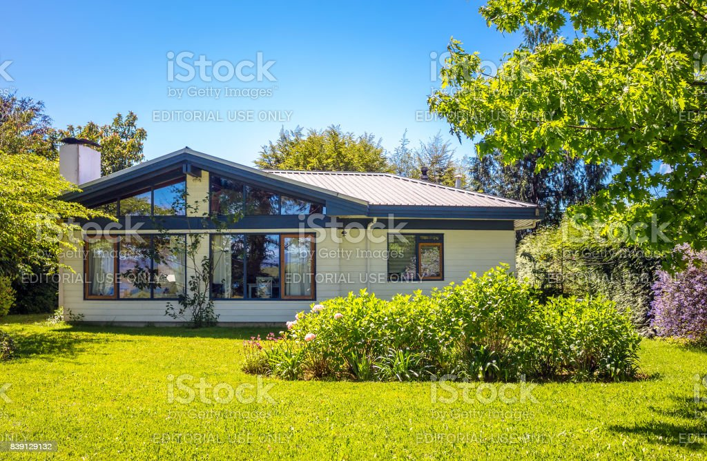 House in Chile stock photo