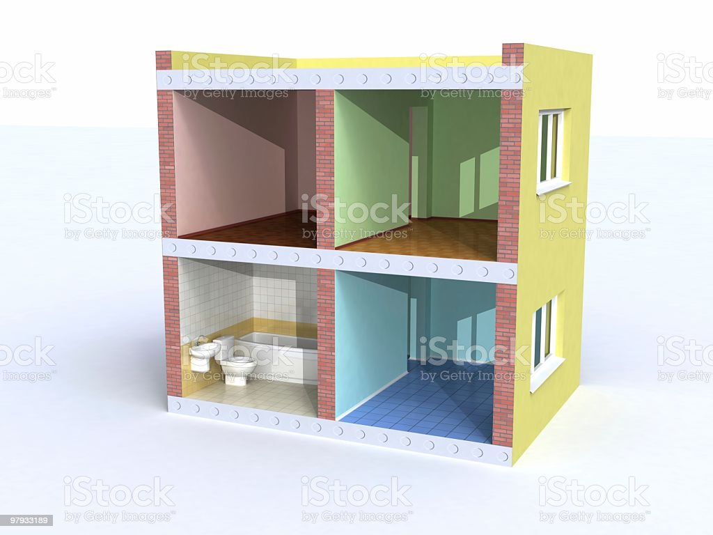 House in cut royalty-free stock photo