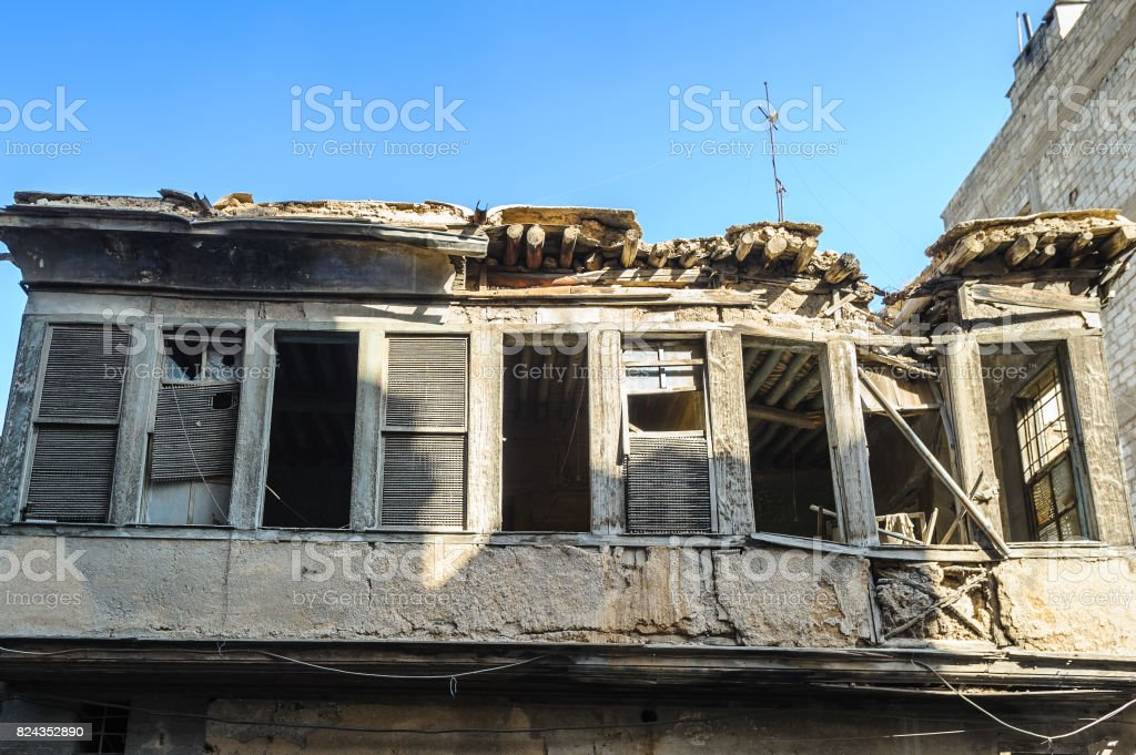 House in Damascus, Syria stock photo