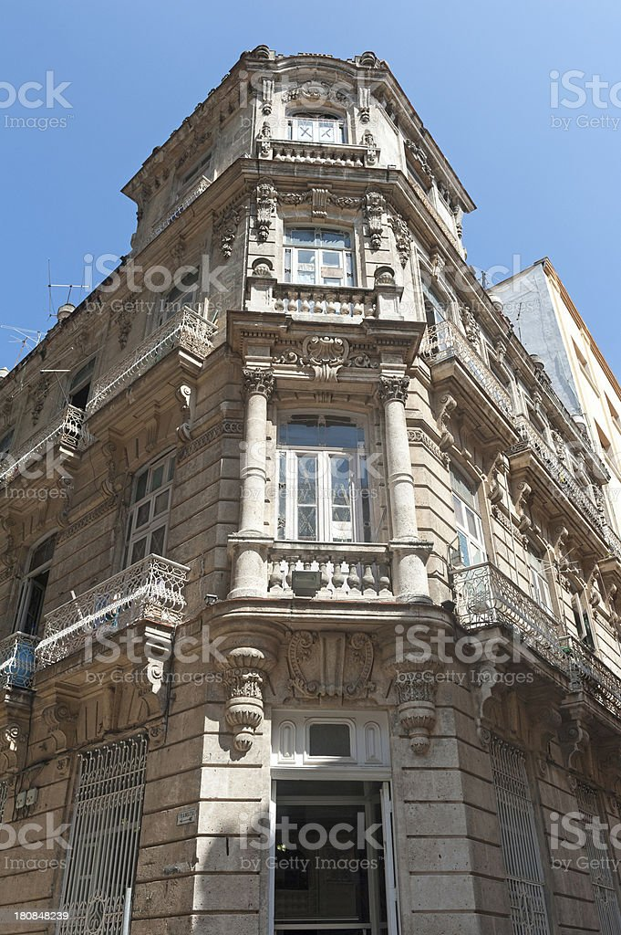 house in downtown old havana, cuba royalty-free stock photo