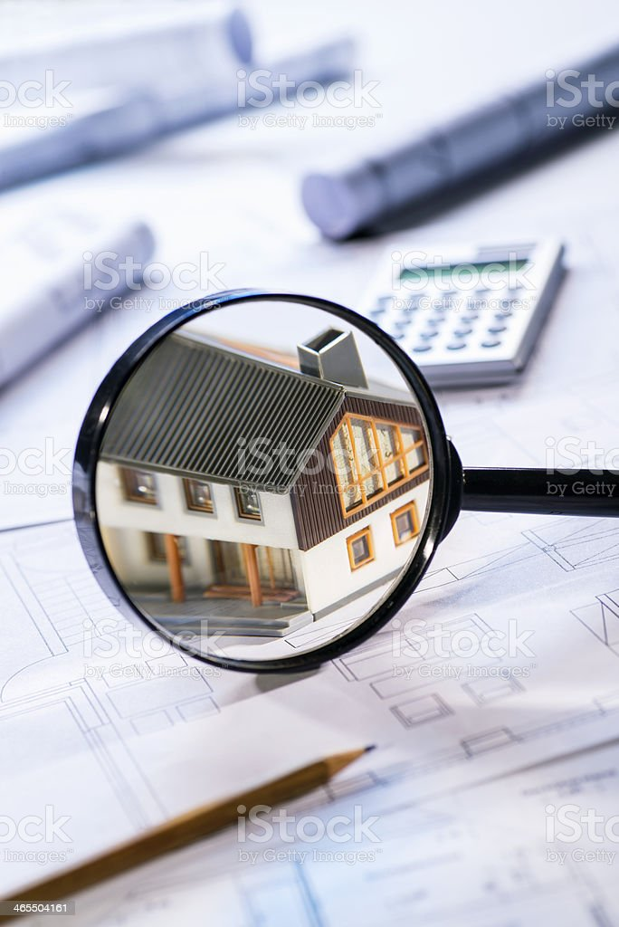 House in focus stock photo