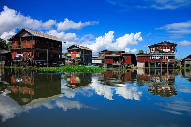 Haus in See Inle lake, Myanmar – Foto
